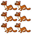 beaver with different facial expressions vector image vector image
