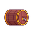 beer wooden keg or barrel icon vector image