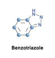 benzotriazole heterocyclic compound vector image vector image