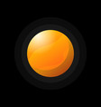 bright orange planet on black vector image vector image