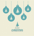 christmas pattern background with balls and tree vector image vector image