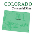 Colorado State Stylized Map vector image vector image