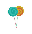 colorful lollipop or color vector image vector image