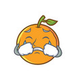 crying orange fruit cartoon character vector image