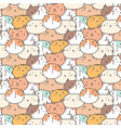 cute cats pattern background vector image vector image