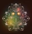 cute owl logo design vector image vector image