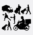 delivery activity silhouette vector image vector image