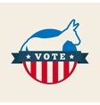 democrat political party animal vector image vector image
