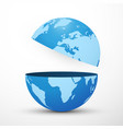 divided planet earth globe vector image