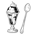doodle desserts cupcake cookie icecream cone vector image vector image