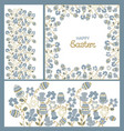 easter ornament frame flowers and paschals eggs vector image
