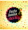 festa junina party festival background vector image vector image