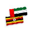 flags uganda and united arab emirates