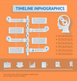 flat business timeline infographics vector image