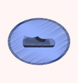 flat shading style icon footwear man shoe vector image vector image