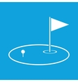 Golf area icon simple vector image