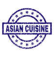 grunge textured asian cuisine stamp seal vector image