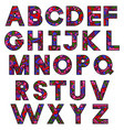hand drawing painted alphabet colorful letters vector image vector image