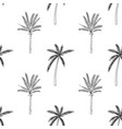 hand-drawn seamless pattern with palm trees vector image vector image