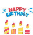 happy birthday candle light background imag vector image vector image