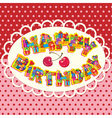 happy birthday letters are made of different gift vector image