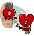heart love song cartoon vector image vector image