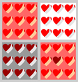 hearts texture set vector image vector image