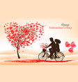 holiday valentines day background tree with vector image vector image