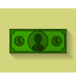 Icon of Dollar Flat style vector image