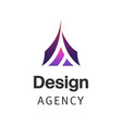 letter a company logo design template triangle vector image vector image