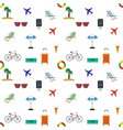 looping travel seamless background flat vector image