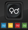 male and female icon symbol Set of five colorful vector image