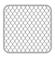metal fence wire mesh vector image