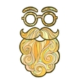 mustache fashionable hipster vector image vector image
