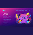 online meetup concept landing page vector image vector image