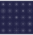 Ornate elegance snowflakes set for Christmas vector image vector image