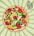 pizza background retro design 4 vector image vector image