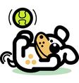 Playful Cartoon Dog vector image vector image