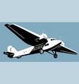 retro aircscrew plane vector image vector image