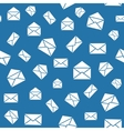 Seamless mail pattern with envelopes vector image