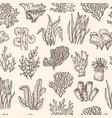 seaweed pattern underwater life seaweeds coral vector image vector image