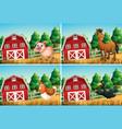 set farm animal vector image vector image