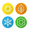 Set of icons seasons vector image vector image