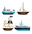 set of marine transport vessels vector image