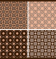 set seamless patterns in trendy mono line style vector image vector image