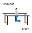 Sportman with sports equipment for street workout vector image vector image