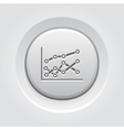 Statistics Icon Grey Button Design vector image vector image