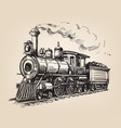 steam locomotive vector image vector image
