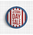 veterans day sale round realistic badge vector image vector image