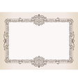 Vintage frame Decorated antique ornaments royal vector image vector image